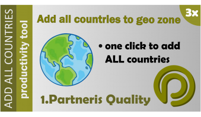 Add all countries to geo zone OpenCart 3.x