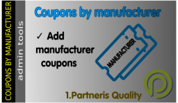 Coupons by manufacturer for OpenCart 2.x