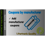Coupons by manufacturer for OpenCart 3.x