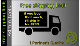 Free shipping limit for OpenCart 3.x