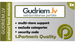 Gudriem.lv Data Feed For Opencart 3.x