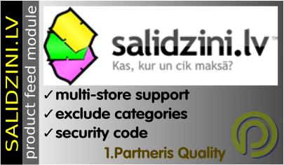 Salidzini.lv datu padeve Opencart 2.x versijām